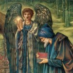 Detalle de una pintura de Edward Burne Jones